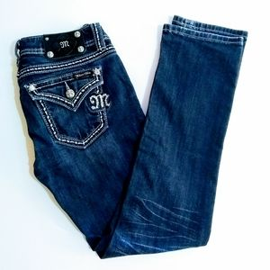"""Miss Me Bling Whiskered """"Easy Straight"""" Style Jean"""